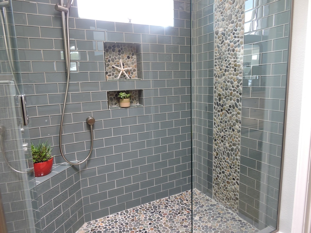Accent Tile Sticks Out In The Shower